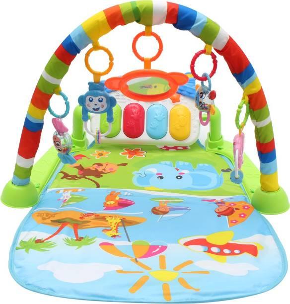 Guru Kripa Baby Products New Born Baby Kick Play Musical Activity Play Gym- Floor Mat Piano Gym