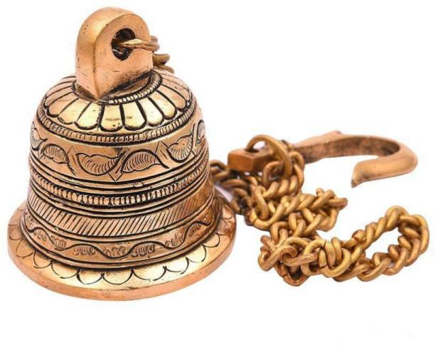d99f48c1d2a Brecken Paul Wall Hanging Bell with Chain (Height 16.5inches) Brass Pooja  Bell