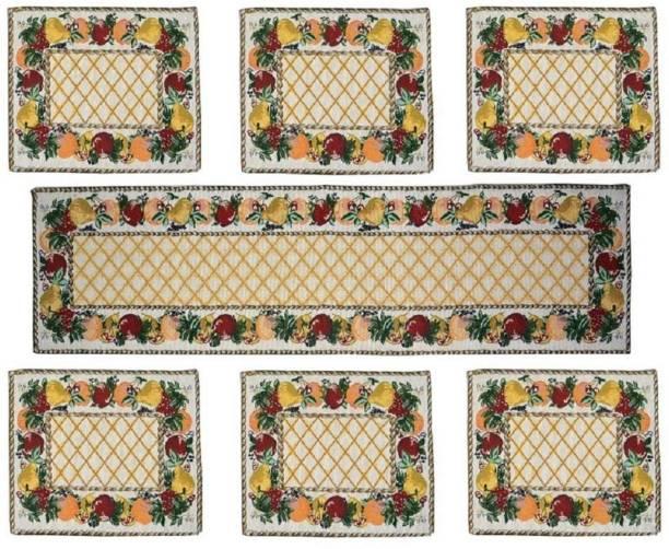 Home Utsav Multicolor Linen Table Linen Set