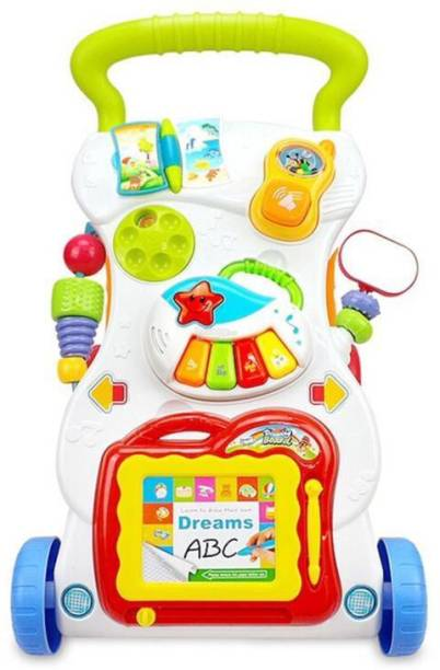 Guru Kripa Baby Products Musical Activity Walker With Parent Rod