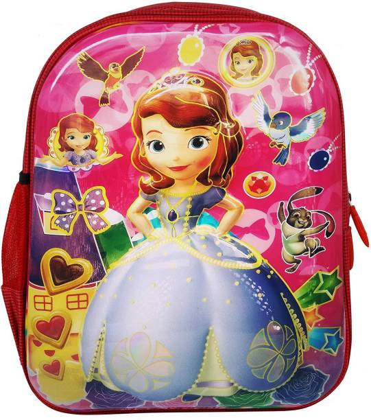 25bb3cb5647 Tinystar Disney Princess Sofia Kids 3D Effect Lightweight 13 Inches  Waterproof School Bag