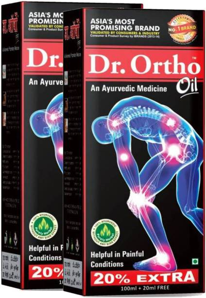 Dr. Ortho AYURVEDIC JOINT PAIN MASSAGE Oil (Pack of 2) Liquid