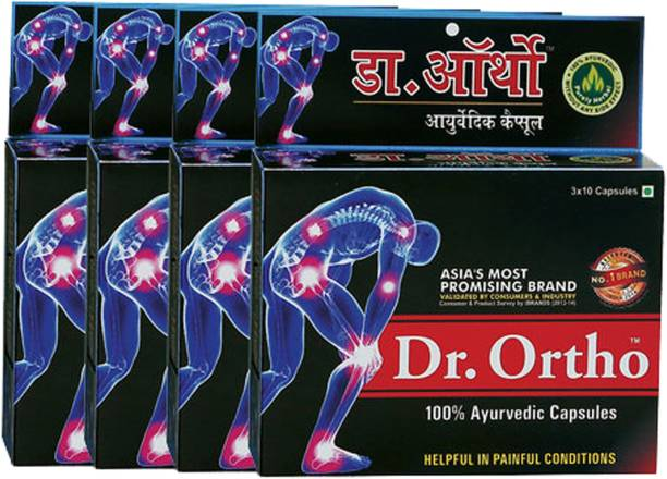 Dr. Ortho AYURVEDIC PAIN RELIEF CAPSULES (30 Caps in each pack) (Pack of 4)
