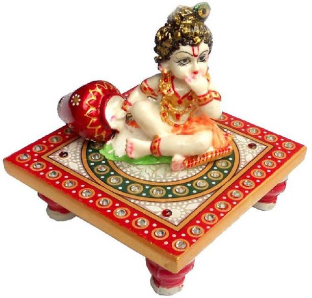 KTC Laddugopal With Chowki Marble All Purpose Chowki