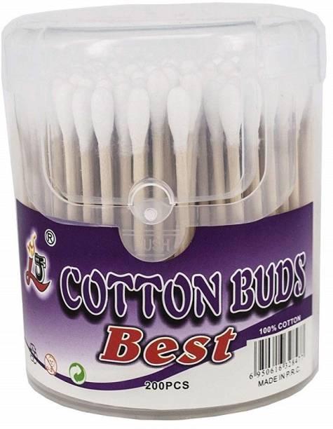 PREMSONS Plastic Safe Soft Stick Cotton Swabs Ear Buds For Adults (100Pcs)