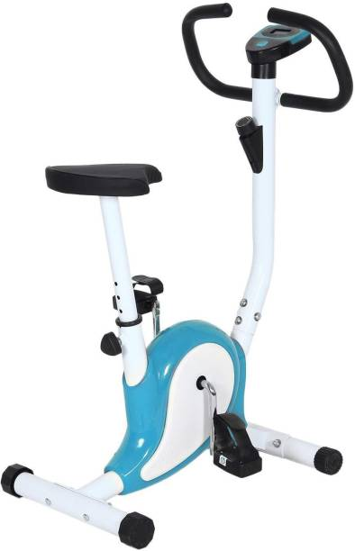 supermarche Home Stress Buster Sprint Running Indoor Cycles Exercise Bike (White/Blue) Indoor Cycles Exercise Bike