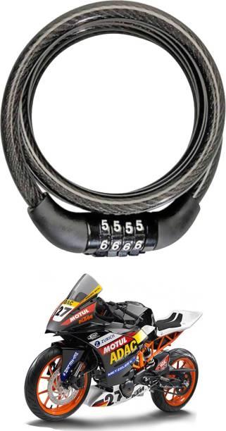 SHOOLIN Plastic, Steel Combination Lock For Helmet
