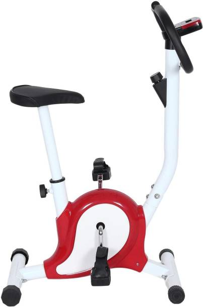 supermarche Home Stress Buster Sprint Running Indoor Cycles Exercise Bike (White/Red) Pedal