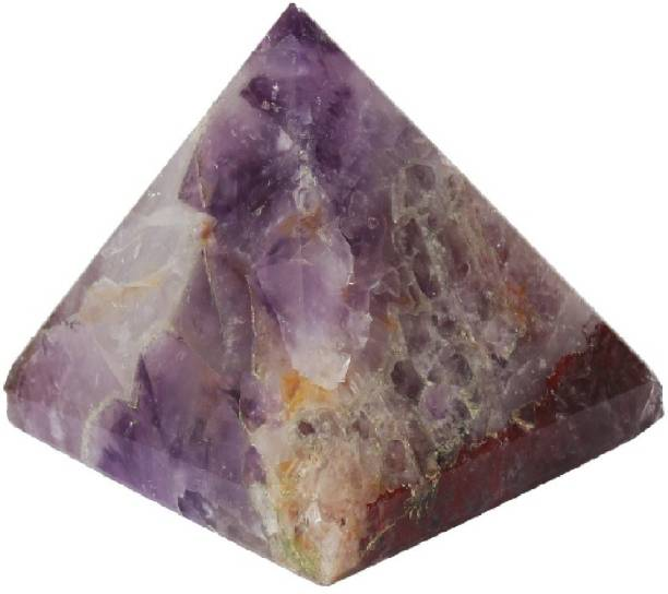 Aurra Stores Amethyst Pyramid (1 inches)3 peices with Certified lab Report Decorative Showpiece  -  1.5 cm