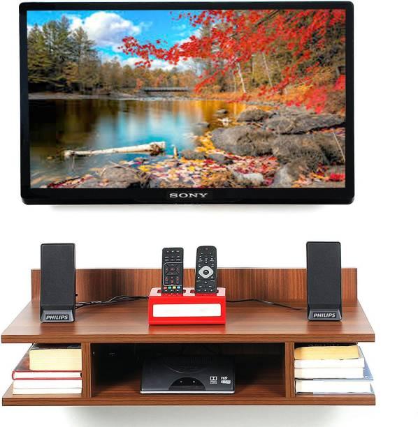 Captiver Tv Wall Mounted Unit Classic Walnut Engineered Wood TV Entertainment Unit