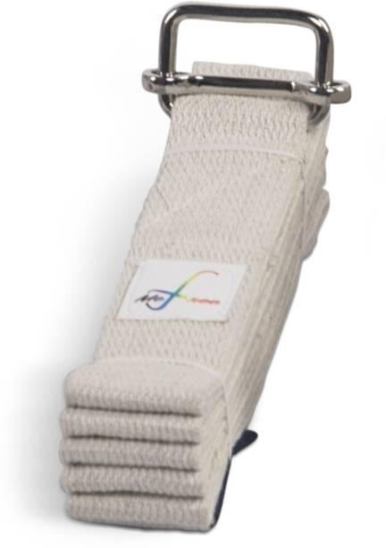 MeFree Organic Cotton Yoga Strap, All Levels of Asanas, 6-ft Cotton Yoga Strap