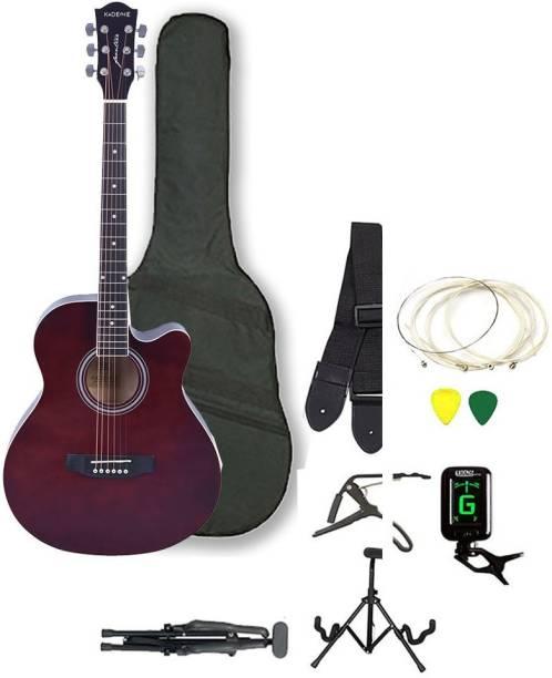 KADENCE KAD-FNTR-BRN-SC Linden Wood Acoustic Guitar