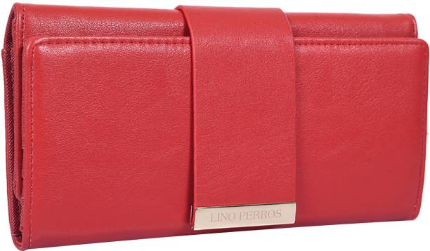 LINO PERROS Women Red Artificial Leather Wallet