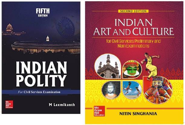 INDIAN POLITY By M Laxmikanth & INDIAN ART AND CULTURE By Nitin Singhania (INIDAN POLITY 5th Edition And Indian Art And Culture 2ne Edition) Best Book For Civil Services, UPSC,IAS,IPS EXAM Hindi Medium Bihar Psc,psc Exam,use Ful For Ugc-Net(Nitin Sighania,M Laxmikanth,paper Back) (Paperback, English,Nitin Sighania, M Laxmikanth)