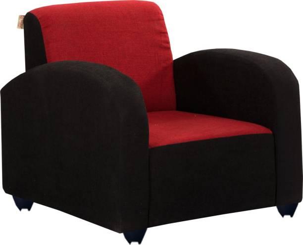 Bharat Lifestyle Quatra Fabric 1 Seater  Sofa