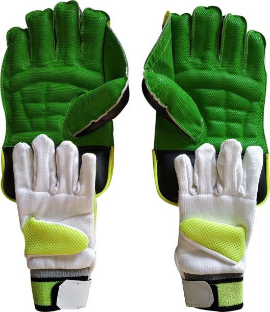 JetFire Youth Wicket Keeping Gloves Combo Green Wicket Keeping Gloves