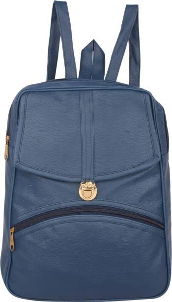 1a244cd6e8 Rajni Fashion PU Leather Backpack School Bag Student Backpack Women Travel  bag Tuition Bag 12 L