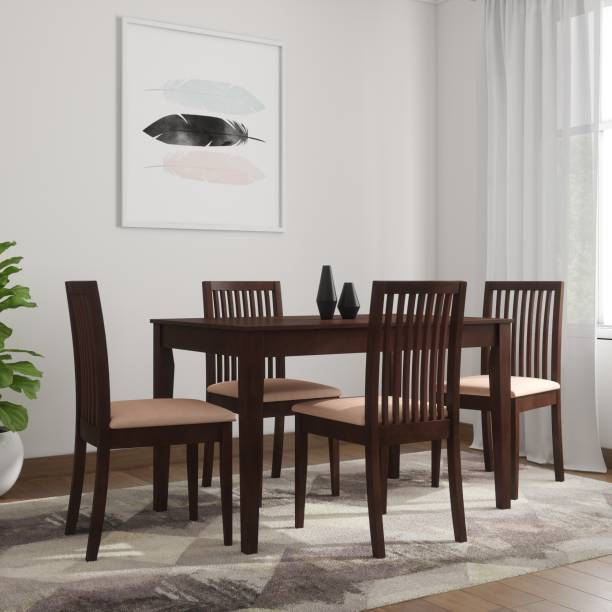 Nill Berry Solid Wood 4 Seater Dining Set