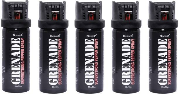 Novosynth GRENADE Super Strong Pepper Spray for Self Defense Range up to-15 Feet With Safety Cap Pepper Fogger Spray