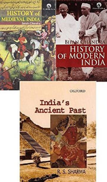 3 IAS/UPSC COMBO HISTORY OF MEDIVAL INDIA BY SATISH CHANDRA, HISTORY OF MODERN INDIA BY BIPIN CHANDRA, OXFORD INDIA'S ANCIENT PAST BY RS SHARMA (Best Book COMBO For IAS,IPS,IFS,UPSC,PSC,Civil Services,UGC-Net And All Indian Govt Exam) (Papar Back,COMBO,ENGLISH)