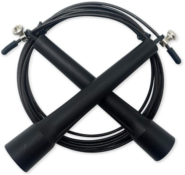 SKIPPING ROPE SPEED FITNESS BOXING GYM CROSSFIT EXERCISE ADJUSTABLE STEELCABLE R