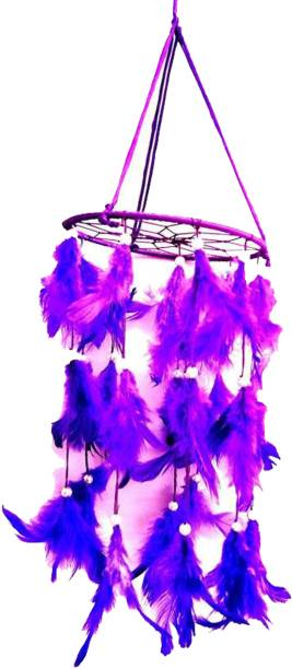 Kraft Village Dream Catcher for Attract Positive Dreams Protect Sleeping People Children From Bad Dreams and Nightmares Wool Dream Catcher