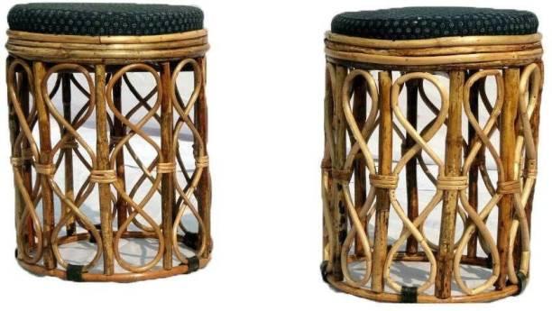 Handicraft Cane Round Stool Living & Bedroom Stool