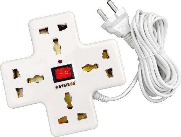 eSYSTEMS Extension Board, Multi Plug Point Strip, Extension Cord (3.6 Meter) 6 Amp 4  Socket Extension Boards