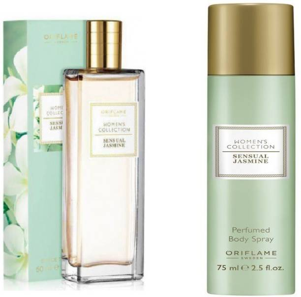 Oriflame sensual jasmine e d t and deodorant body spray combo