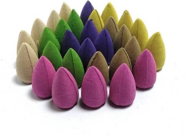 """Crafts For You """"Fountain Cones, Buddha Cones, Ganesha Cones, Backflow Cones, Incense Cones Agarbattis (30 Sticks)"""" Rose, Lavender, Jasmine Dhoop"""