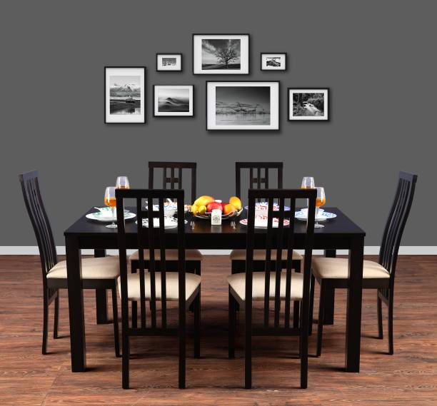 Hometown Ronald Solid Wood 6 Seater Dining Set