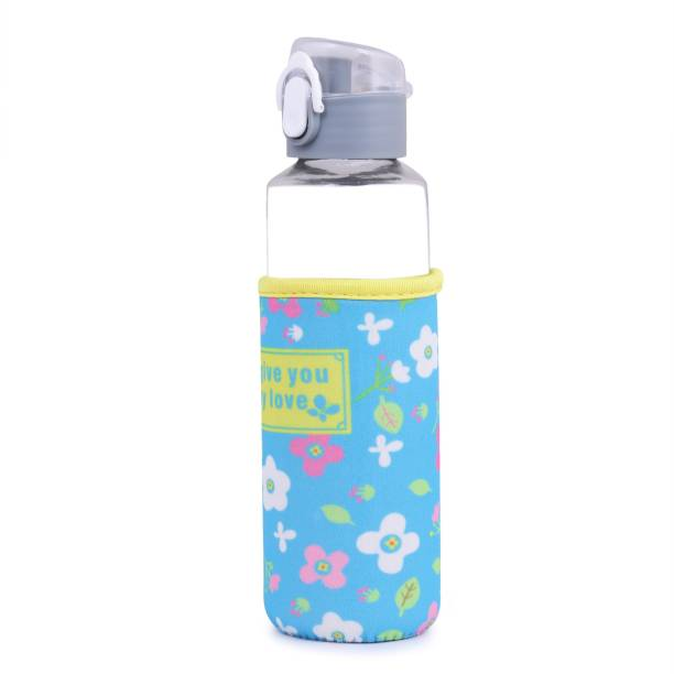 U-grow GREY GLASS BOTTLE WITH INSULATION COVER FOR BABY/KIDS - 360 ml