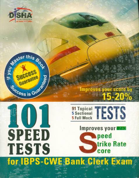 Ibps Cwe Bank Clerk 101 Speed Tests with Success Guarantee - Improves Your Speed / Strike Rate / Score