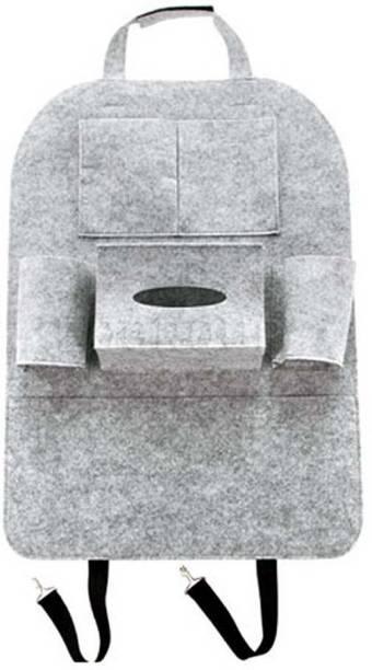 LakhanPal Grey Wool Car Pillow Cushion for Universal For Car