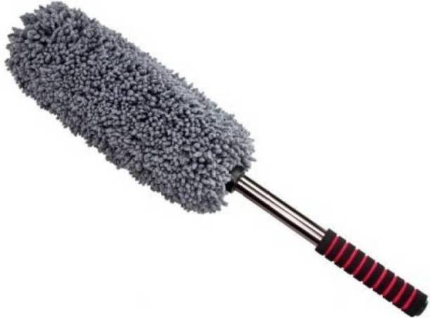 LakhanPal Microfiber Retractable Type Round Car Cleaning Duster Brush Mop for All Cars Dry Duster