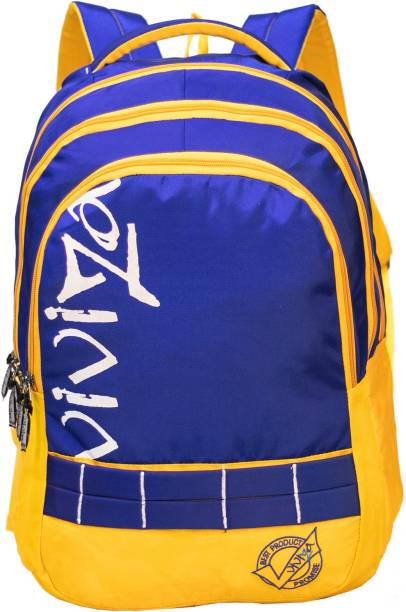 Viviza Highly Durable Polyester 26 Ltrs Royal Blue school Backpack Waterproof School Bag