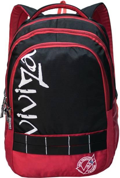 Viviza Highly Durable Polyester 26 Ltrs Black school Backpack Waterproof School Bag