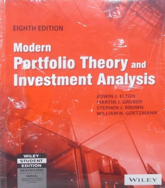 Modern Portfolio Theory and Investment Analysis, 8th Ed