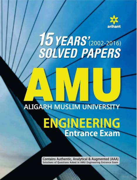16 Years' Solved Papers for Amu Engineering Entrance Exam 2017