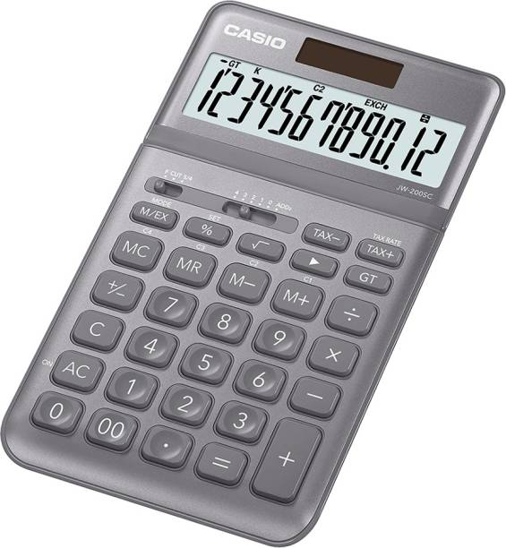 CASIO JW-200SC-GY Desktop - Std Basic  Calculator
