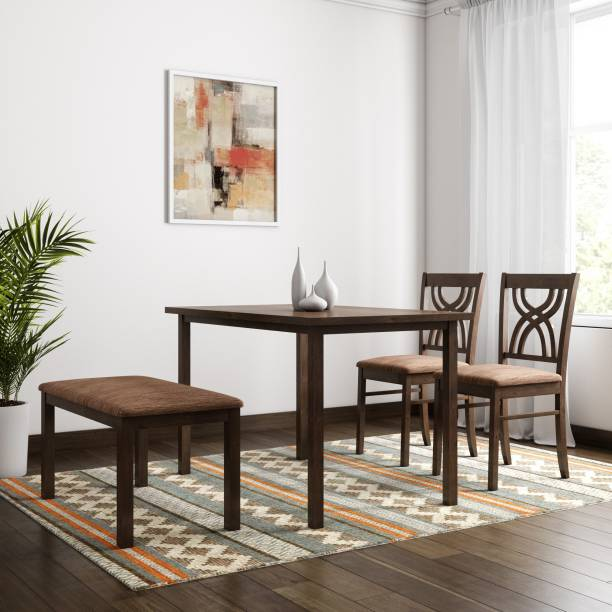Home By Nilkamal Alice Solid Wood 4 Seater Dining Set