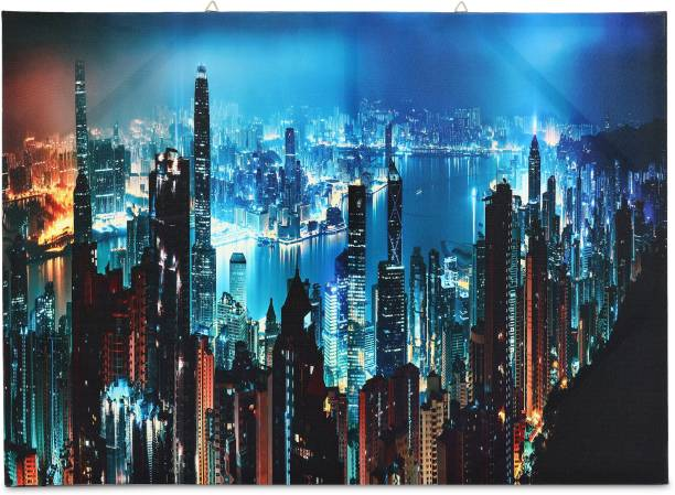 SkyWalls Wooden Framed Beautiful City View Printed Ready to Hang Canvas 50 cm x 70 cm Painting
