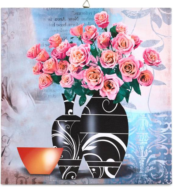 SkyWalls Wooden Framed Beautiful Flower Printed Ready to Hang Canvas 30 cm x 30 cm Painting
