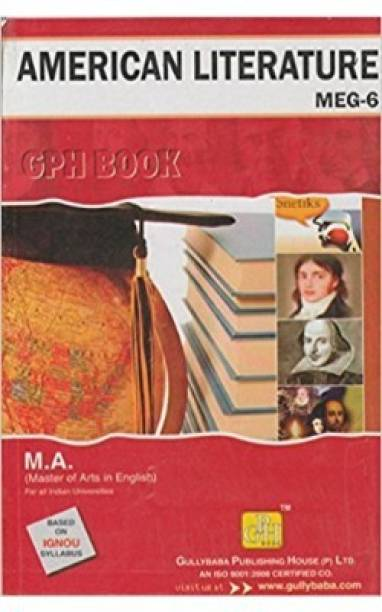 MEG6-American Literature-IGNOU Help Book Guide For MEG6 ( English Medium | GPH Publications )