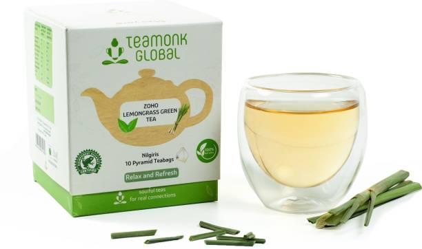 Teamonk Zoho Lemon Grass Green Tea Box