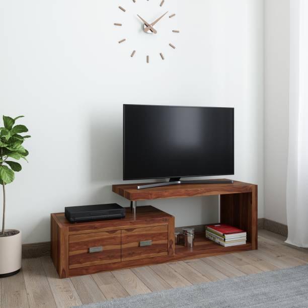 Balaji Wooden Sheesham Wood Solid Wood TV Entertainment Unit