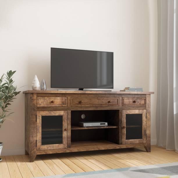 Balaji Wooden Solid Wood TV Entertainment Unit