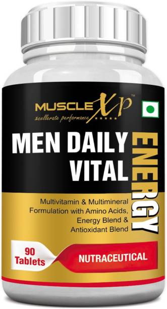 MUSCLEXp Men Daily Vital Energy With Multivitamins, Multiminerals & Energy - 90 Tablets
