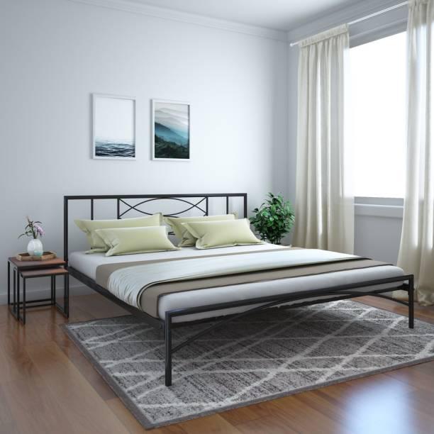 @Home by nilkamal Ursa Metal King Bed