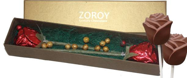 Zoroy Luxury Chocolate Valentines day Milk chocolate Rose Box Fudges